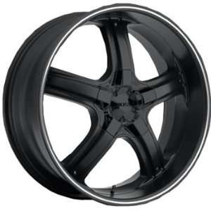 Boss 333 22x9 Flat Black Wheel / Rim 5x150 with a 28mm Offset and a