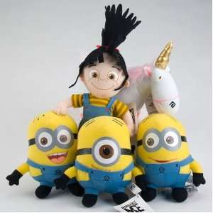 Despicable Me Minions Plush Set with Agnes and Unicorn