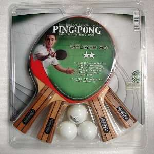 Ping Pong Brand 2 Star 4 Player Table Tennis Set  Sports