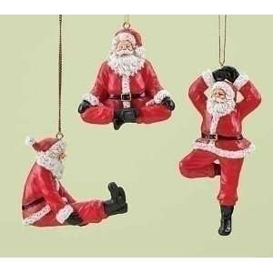 Club Pack of 12 Holiday Traditions Yoga Posing Santa