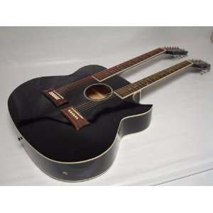 Acoustic Electric Double Neck Guitar, Cutaway Musical Instruments