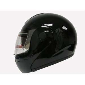 BLACK MODULAR FLIP UP DUAL VISOR MOTORCYCLE HELMET(&JX