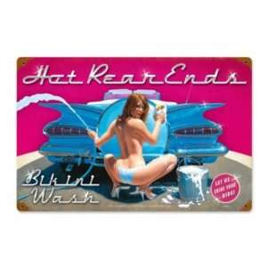 Hot Rear Ends Pin Up Vintage Metal Sign Home & Kitchen