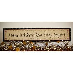 decor wood sign Home is Where Your Story Begins