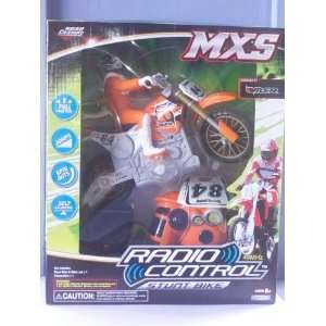 Scale Orange 49 MHz Radio Control Stunt Bike and Rider Toys & Games