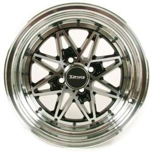 15 drag dr20 wheel/rim low offset +10 4x100 4pcs black