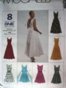 UNCUT McCalls Pattern Semi Fitted Dress 8621 SEWING OOP