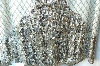 647 NEW BCBG MAXAZRIA SEQUIN EMBELLISHED MINI DRESS L