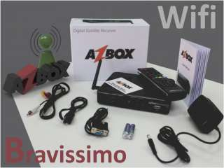 Azbox Bravissimo Wifi HD Free To Air Digital Satellite Receiver Az Box