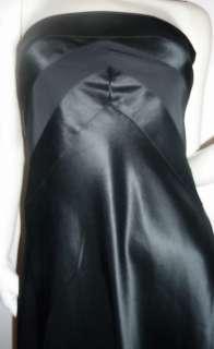 NWT $168 Banana Republic Black Satin Strapless Dress 0P