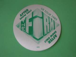 The Firm Tour Back Stage Pass Otto 1985 85 Led Zeppelin