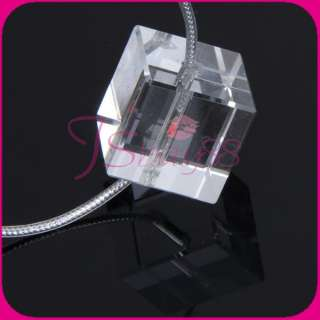 magnetic Red Light Lamp crystal pendant Necklace Decoration Kids Gift