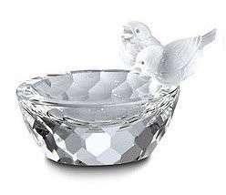 Swarovski Crystal Bird Bath New In Box   10029