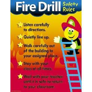 Fire Drill Safety Rules Chartlet
