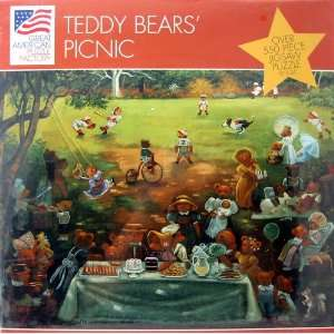 Teddy Bears Picnic Over 550 Piece Jigsaw Puzzle Toys