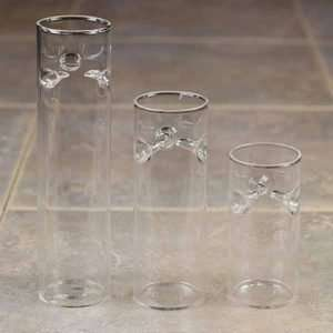 Set 3 Cylinder Floating Tea Light Candle Holder Wedding