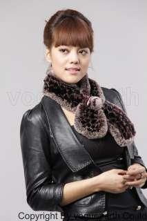 558 new real Rex rabbit fur 4 color scarf/shawl/wrap