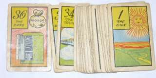 Old Gypsy Fortune Telling Cards 1940 Antique Tarot type Whitman