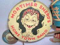 Vintage MARX Tin Litho Wind Up Toy MORTIMER SNERDS HOME TOWN BAND