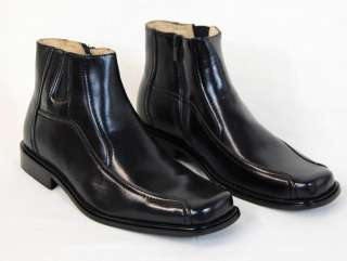 fw38/ Mens Black Majestic Boots, Dress Shoes, Leather Lining, New in