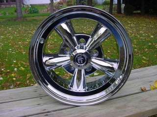 VISION CHROME HOT ROD STYLE WHEELS 15X7 CHEV FORD