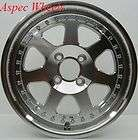 15X7 ROTA J MAG RIM WHEELS 4X100 FITS 4 LUG CIVIC CRX F