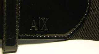 EXCHANGE A/X BLACK WIDE ELASTIC BUCKLE BELT YOUNG WOMEN/LADIES/GIRLS