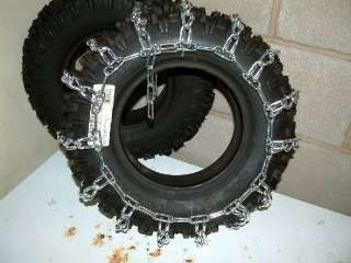NEW PAIR 18X6.50 X 8 SNOW BLOWER, TILLER, TRACTOR 2 LINK TIRE CHAINS