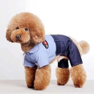 Spring Summer Pet Puppy Doggie Clothes Policeman Guard