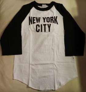 Beatles John Lennon Style New York City T Shirt. 3/4 Length Sleeve