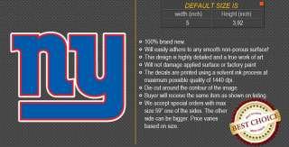 New York Giants NFL Football Logo Car Bumper Window Wall Sticker