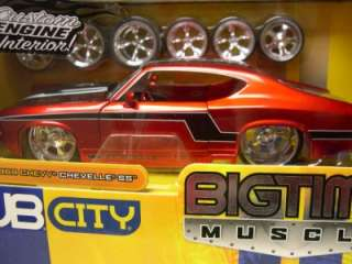 Jada Toys Dub City 1969 Chevy Chevelle SS Red 1:24 Scale Diecast Model