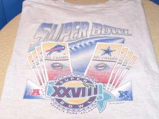 SUPER BOWL 1994   BUFFALO Bills DALLAS Cowboys Shirt XL