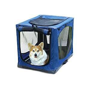 Cabana Crate (Soft sided, Folding Dog Crate)   Small, Blue