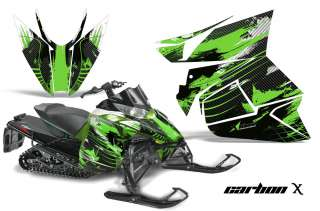 STICKER DECAL KIT ARCTIC CAT PROCROSS SNOWMOBILE SLED 2012 CARBON GRN