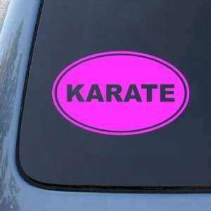 KARATE EURO OVAL   Martial Arts   Vinyl Car Decal Sticker