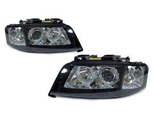 97 01 AUDI A6 C5 D2S HID XENON BLACK ANGEL EYES HALO EURO PROJECTOR