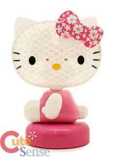 Sanrio Hello Kitty Mini Table Fan w/ Pink Flowers Bow