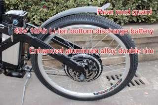 48V 1000W Electric Bicycle Motor Bike+10Ah Anti Theft Li ion Battery