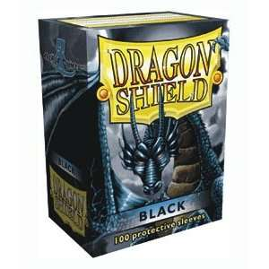 Dragon Shield Sleeves   BLACK   Standard Size Deck Protectors (100 ct
