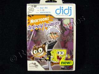 Leap Frog Didj Nicktoons Android Invasion Math Facts