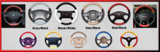 Ford 2 Tone Leather Steering Wheel Cover   Custom Fit