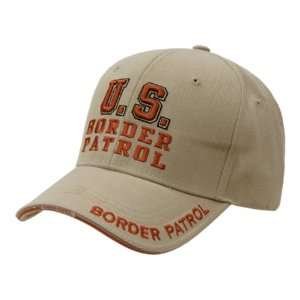 Embroidered Law Enforcement Caps Border Patrol, Khaki