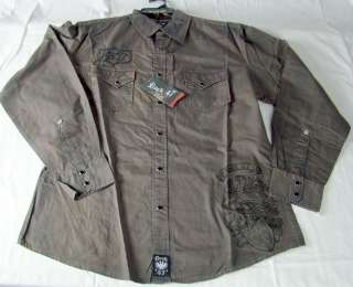 Mens Wrangler Rock 47 Shirt embroidered long sleeve shirt NWT $58
