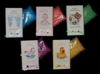 35 Baby Shower Personalized BATH SALT Favors ~Assembled