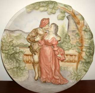 DIMENSIONAL ANTIQUE CERAMIC WALL HANGING PLATE ART a