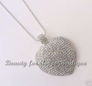 JEWELS BY PARK LANE JEWELRY DESTINY HEART SWAROVSKI CRYSTAL NECKLACE