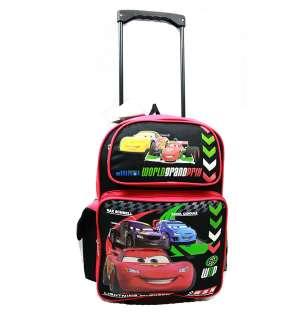 LIGHTNING McQUEEN Large ROLLING BACKPACK WORLD GRAND PRIX School Bag