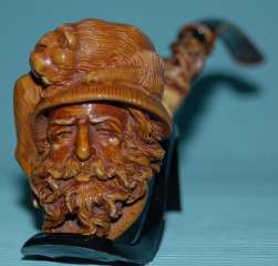 MeerschaumArt BLOCK Meerschaum Smoking Pipe pipa CHEVALIER Long Stem