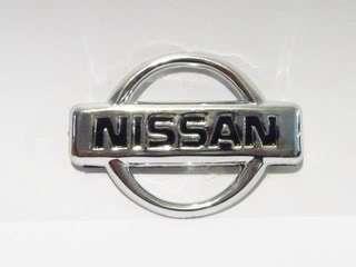Nissan Chrome 58mm Hood Trunk Emblem Badge Sticker